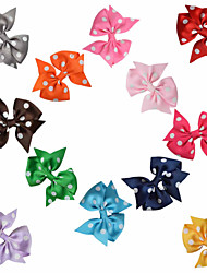 12 Pcs Hair Bows Grosgrain Printing Ribbon Mix Color Hair Clips Hairbows Alliger Clip Accessories Handwear AC022