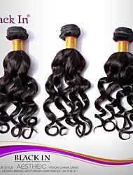"3 Pcs Lot 12""-30"" Brazilian Nadi Curl Virgin Hair Wefts Dark Brown Human Hair Weaves Tangle Free"