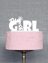 It's A Girl Wedding Cake Topper