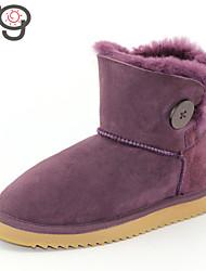 2015 MG New Style Winter Women Boots Twinface Sheepskin Shoes