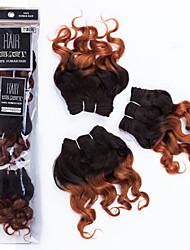 "evet neuen Ankunft ombre menschlichen Haares malay lose Welle webt 1b / 30 mit zwei Tönen Haareinschlag 6a Grade 3pcs 8 ""105g / set"