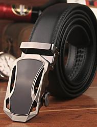Men Calfskin Waist Belt , Vintage/Party/Work/Casual Alloy