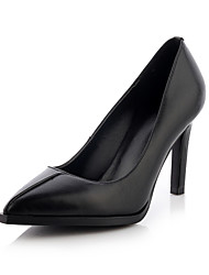 Scarpe Donna Finta pelle A stiletto A punta Scarpe col tacco Casual Nero