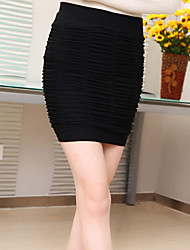 Women's Bodycon/Work Above Knee Skirts , Cotton/Spandex/Wool Blends Stretchy