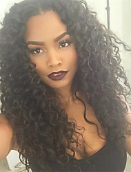 Cheap 120%-130% Density Brazilian Virgin Human Hair  Glueless Full Lace Wigs  Kinky Curly For Black Women