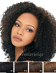 12''-26''Cheap Afro Kinky Curly Chinese Virgin Hair Lace Front Wigs With Baby Hair For Black Women