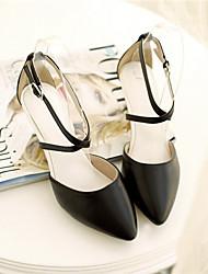 Zapatos de mujer Cuero Sintético Tacón Kitten Tacones/Puntiagudos Pumps/Tacones Oficina y Trabajo/Casual Negro/Rosa/Blanco