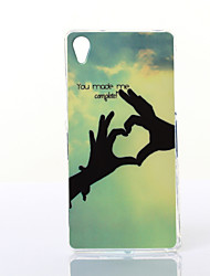 Love Pattern TPU Soft Case for Multiple Sony Xperia M2/Z2A