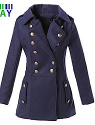 ZAY Women's Winter Fashion Warm Double Breasted Long Sleeve Coat