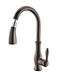 PHASAT® Deck Mounted Single Handle One Hole with Oil-rubbed Bronze Kitchen faucet