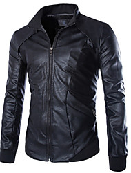 Men PU/Faux Leather Top
