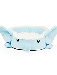 Cartoon Animal Elephant Big Norse Blue Beds with Cushion for Small Pets Dogs Cats