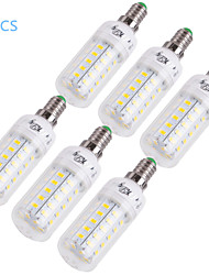 YouOKLight® 6PCS E14/E27 12W 1000lm CRI>80 3000K/6000K 48*SMD5730 LED Light Corn Bulb (110-120V/220-240V)