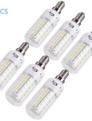 12W E14 E26/E27 Ampoules Maïs LED T 48 SMD 5730 1000 lm Blanc Chaud Blanc Froid Décorative AC 100-240 AC 110-130 V 6 pièces