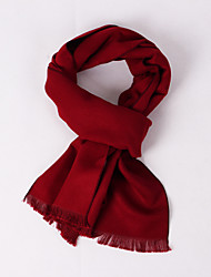 Deep Red Flannelette Scarf