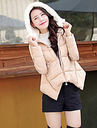 Women's Coats & Jackets , Polyester Casual/Cute Long Sleeve BLS