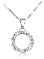 S925 Sterling Silver Ring Full Diamond Pendants