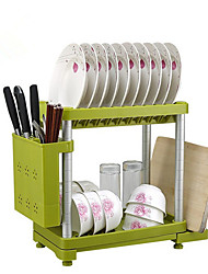 ABS Plastic Kitchenware Double-layer Storage Holder Household Dish Rack