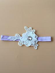 Liga Cetim Elástico Flor Branco / Preto / Azul / Púrpura / Verde / Rosa / Marfim