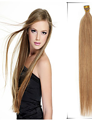 "1Pc/Lot 20""-24"" 0.5g/s Brazilian Virgin Hair Straight  Keratin Stick Tip Hair Extension Aplique De Cabelo Humano Natural"