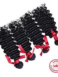 Evet Малайзии девственные волосы 4 пучки # 1b 100% человеческий волос Малайзии свободная волна 6а необработанный Малайзии девственной