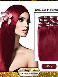 "20 ""bug 7pcs klem in remy human hair extensions"