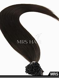 """20 """"uña de fusión en caliente de color marrón más oscuro u propina remy 100pcs 0.8g / pc del pelo / pack queratina italiano"""