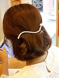Women's Rhinestone/Alloy Headpiece - Casual/Outdoor S Shape Barrette 1 Piece