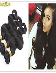 3pcs / lot 8a cabelo virgem monte onda brasileira corpo brasileiros cabelo três feixes tece cor natural de trama