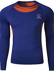 Camiseta ( Cinzento/Azul ) - de Ciclismo - Homens - Respirável/Secagem Rápida Manga Comprida Outono Stretchy M/L/XL/XXL