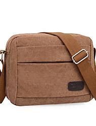 Men 's Canvas Baguette Shoulder Bag - Blue/Green/Brown/Black