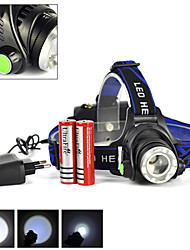 Rechargeable 2500Lm XML T6 LED Zoomable Headlamp Mode Headlight+2X18650+Charger