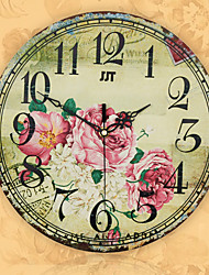 Style Creative Stylish Riches And Honor Decorative Mute Wall Clock