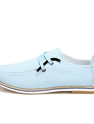 Men's Shoes Casual Canvas/Tulle Fashion Sneakers Blue/White/Gray