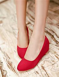 Women's Shoes Chunky Heel Heels Pumps/Heels Office & Career/Casual Black/Blue/Red/Beige