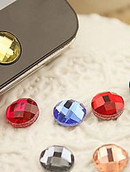 смола домой стикер кнопки для iphone 8 7 samsung galaxy s8 s7 (случайный цвет)