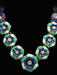 Doban Women's Fashion High Quality Delicate Blue Necklace