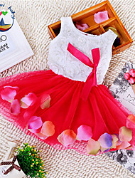 Girl's Cotton Blend Summer Sleeveless Princess Dress