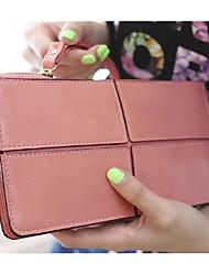 Uso professionale - Portafoglio da polso - Donna - PU - Bianco / Rosa / Viola / Verde / Giallo / Marrone / Nero