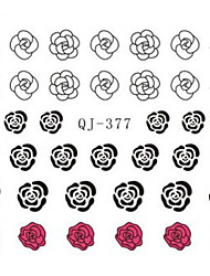 Water Transfer Printing Rose Nail Stickers