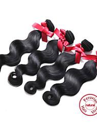 Evet волосы пучки объемная волна перуанских Виргинские наращивания волос 4 пучки человеческие волосы ткет натуральный черный 100г / шт 8