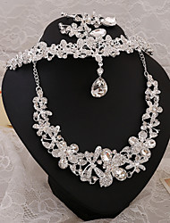 2015Beautiful bride diamond wedding accessories wedding necklace earrings three-piece Hair AccessoriesBY-SET0002