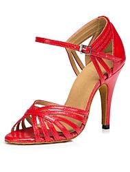 Zapatos de baile (Azul/Rojo/Oro) - Salsa - No Personalizable - Tacón de estilete