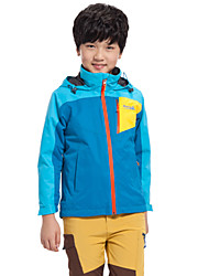 Makino Boys' /Girls' Fleece Lined Waterproof Coat Rain Jacket Hoodie Windbreaker 1247-3