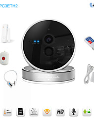 Snov HD Wireless Night Vision IP Camera Alarm Including Tempreature & Humidity Sense, with 3pcs Wireless Alarm Sensors