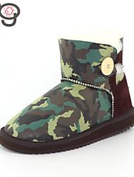 MG 2015 Snow BootsTwinface Sheepskin Shoes Autumn New Arrive Women's Winter Boots Warm Flat Heel Boots