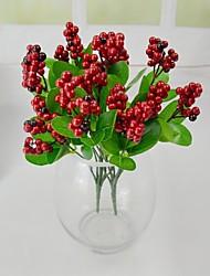 Red Artificial Berry Bundle 2 Bundles/Lot