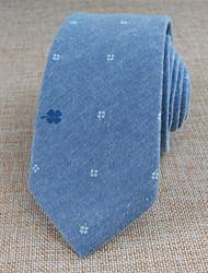 Галстуки ( Синий , Хлопок ) С рисунком
