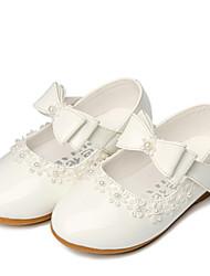 Flache Schuhe-Hochzeit Outddor Kleid Lässig Party & Festivität-Kunstleder-Flacher Absatz-Komfort Light Up Schuhe-Schwarz Rot Weiß