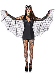 Vampire Batman Demon Black Lace Halloween Female Vampires Costumes
